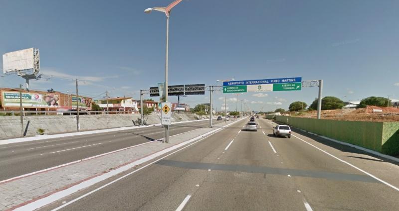 Confronto aconteceu na Avenida Senador Carlos Jereissati (FOTO: Google Maps)