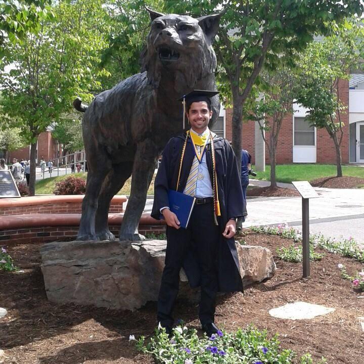 Aos 19 anos conseguiu uma bolsa integral para estudar na Quinnipiac Universtity, nos Estados Unidos (FOTO Arquivo pessoal)