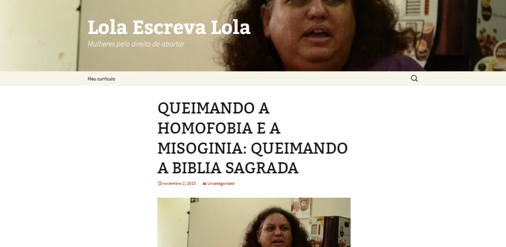 Site falso criado para atingir a ativista Lola Aronovich (Reprodução/Facebook)
