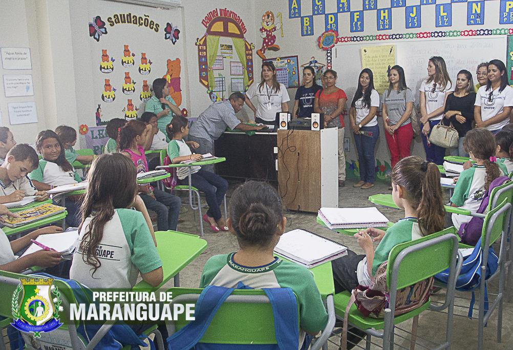 A Escola Municipal José de Moura desenvolve a educação integral através dos moradores de 300 famílias da comunidade (Foto: Prefeitura de Maranguape/Reprodução)