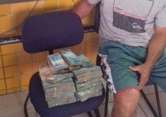 Homem foi encaminhado à Superintendência da Polícia Federal (FOTO: PRF/Divulgação)