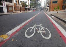 Ciclofaixa da rua Ana Bilhar, em Fortaleza (FOTO: Tribuna do Ceará)