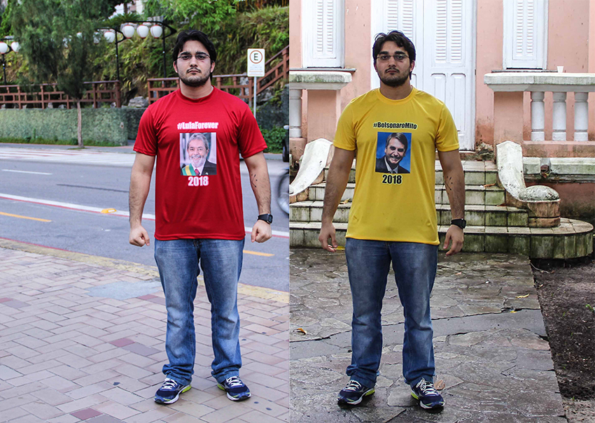 Repórter veste camisas de Bolsonaro e Lula e testa tolerância política em  Fortaleza 4ec63bbdb0a1d