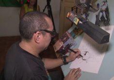 Cearense faz quadrinhos internacionais (FOTO: Reprodução TV Jangadeiro)