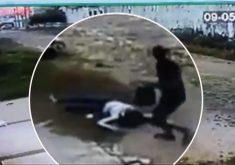 Homem em carro atropela e assalta mulher em motocicleta (FOTO: Reprodução TV Jangadeiro)