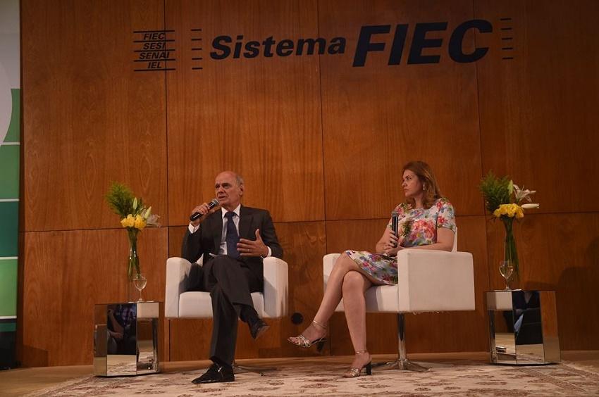 Ricardo Boechat participou de debate na Fiec sobre Crise, Imprensa e o Horizonte Visível (FOTO: Jéssica Welma/ Tribuna do Ceará)