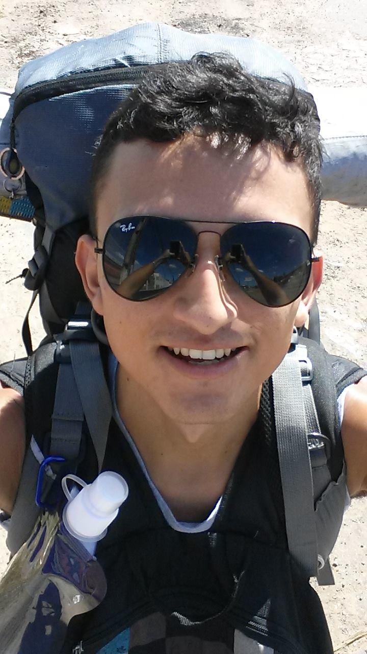 Ele estudou por seis meses sobre como viajar sem dinheiro. (FOTO: arquivo pessoal)
