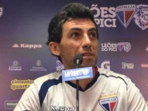 Ricardo Berna está passando segurança no gol do Fortaleza (Foto: Reprodução/TV Leão)