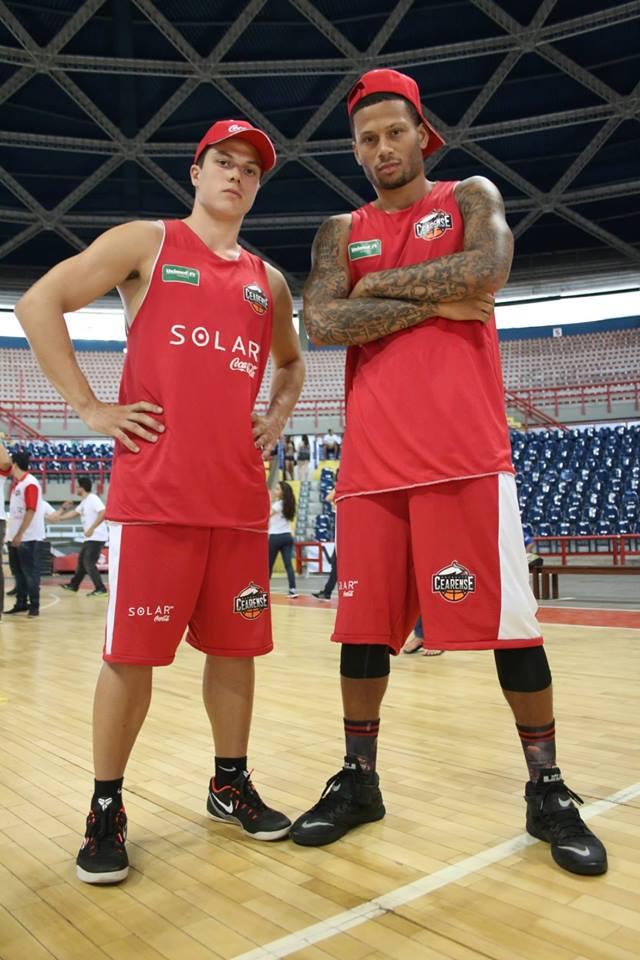 Davi e Rashaun foram os atleta do Basquete Cearense pré-escolhidos (Foto: Arquivo pessoal)