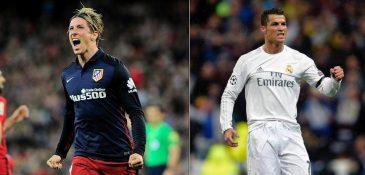 Fernando Torres e Cristiano Ronaldo são duas das estrelas do duelo (FOTO: Reprodução/Facebook)