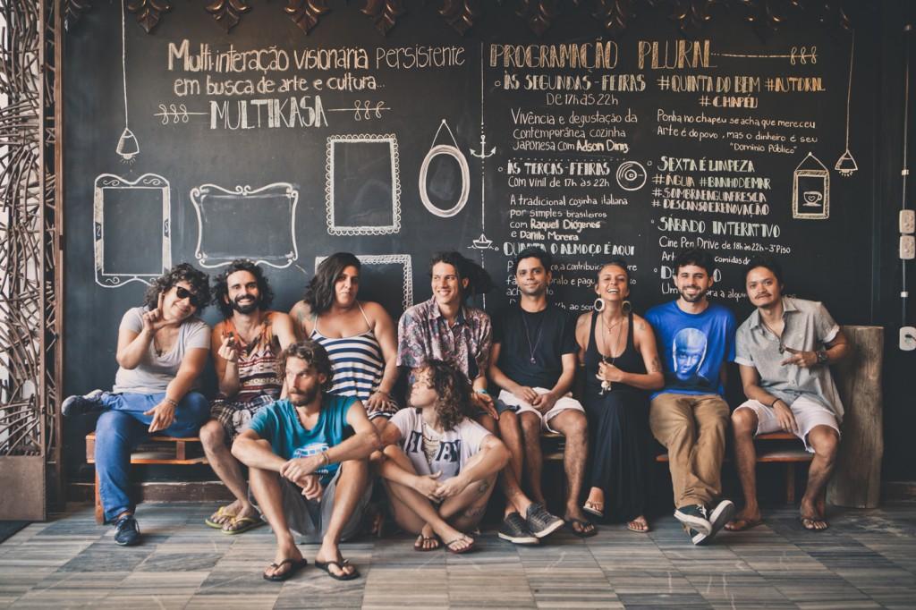 A Multikasa é ponto cultural em funcionamento na cidade há 10 meses na Rua dos Tabajaras, na Praia de Iracema (FOTO: Reprodução/Igor de Melo - Projeto Vós)