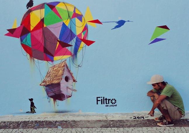 Leandro Alves é artista urbano freelancer e desenvolve trabalhos artísticos para a cena cultural de Fortaleza (FOTO: Arquivo Pessoal)