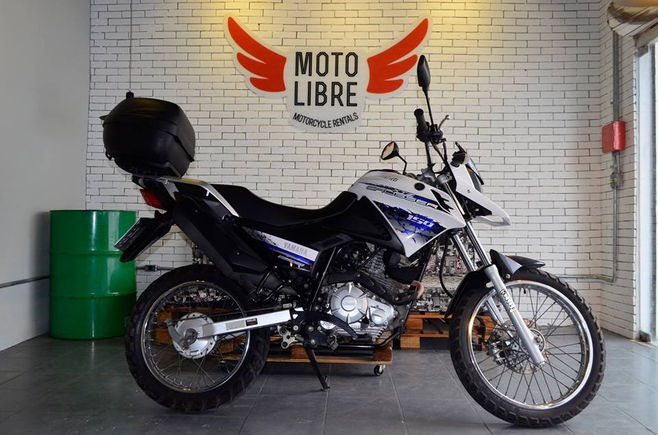 A diária da Yamaha Crosses 150cc, uma das motos disponíveis na Moto Libre, custa R$ 75 (FOTO: Reprodução/Facebook)
