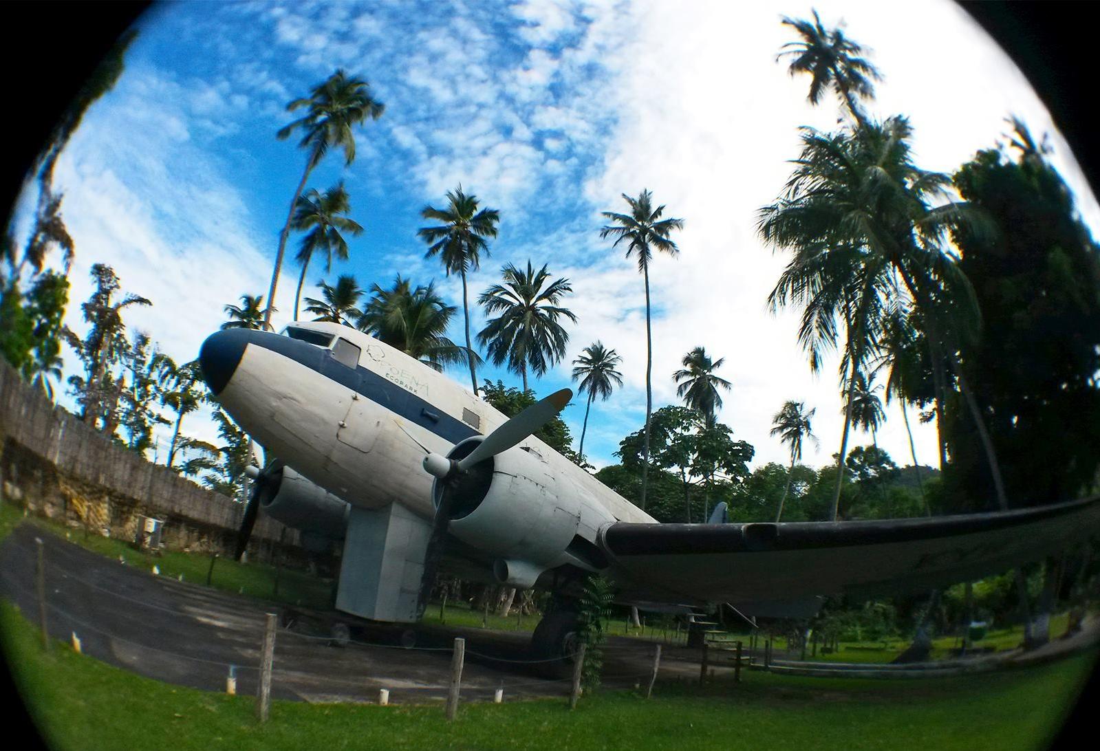 Avião é a grande atraçã odo parque. (FOTO: divulgação)