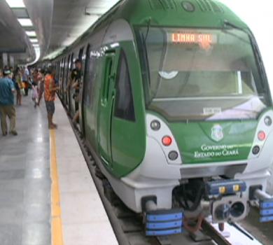 Metrô de Fortaleza apresenta problemas (FOTO: Reprodução TV Jangadeiro)