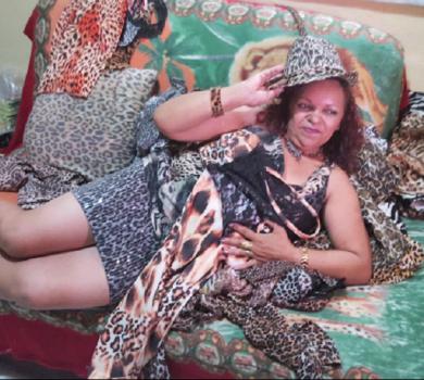 Manuela uma mulher no estilo de onça (FOTO: Reprodução TV Jangadeiro)