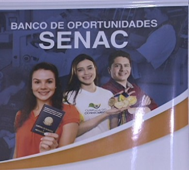 Vagas de empregos no Senac (FOTO: Reprodução TV Jangadeiro)