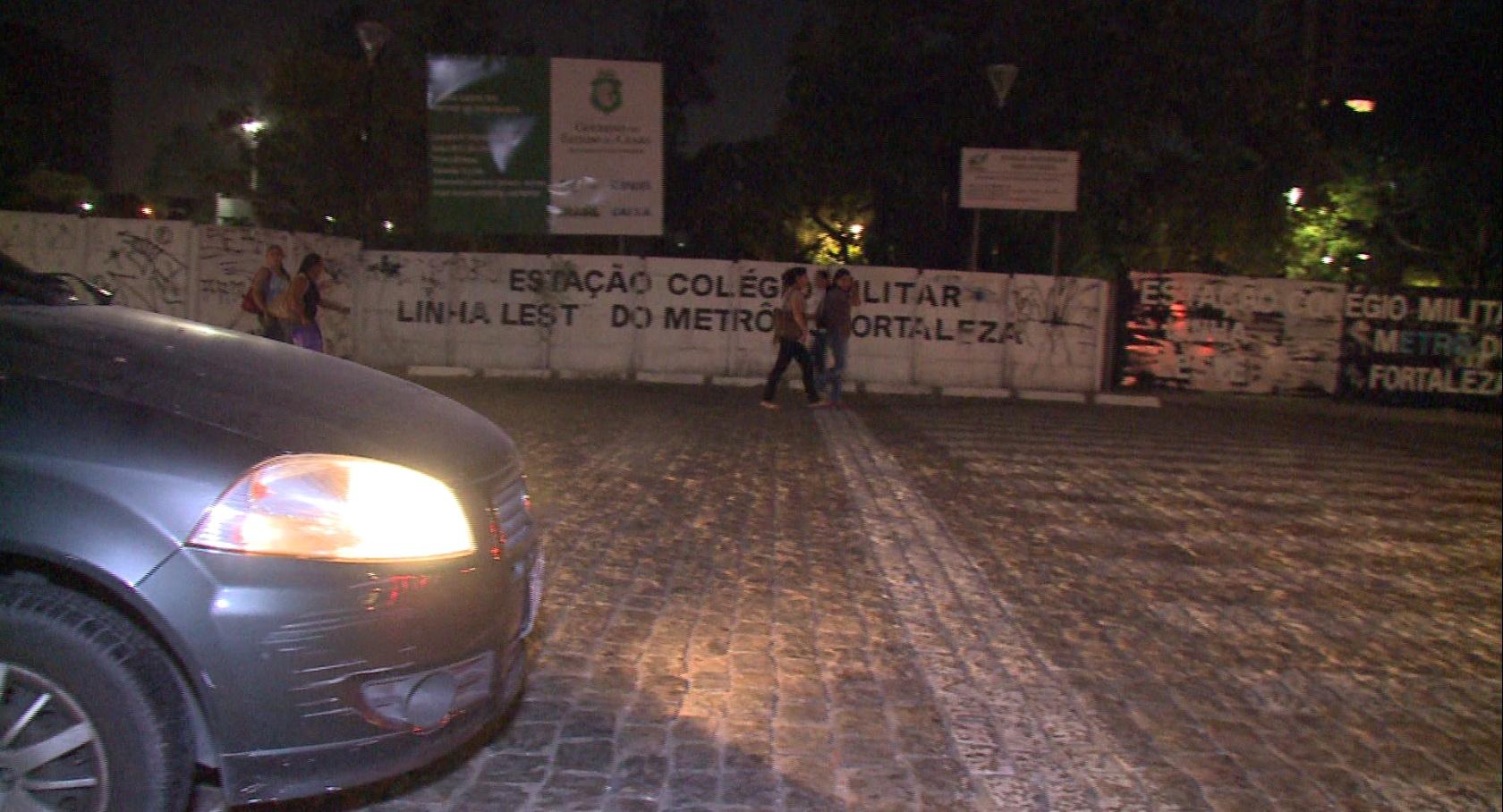 Local é ocupado por usuários de drogas. (FOTO: Reprodução/ TV Jangadeiro)
